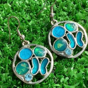 Hand made earrings with stones from Barcelona